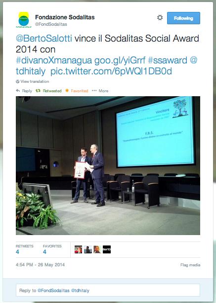 Berto gewinnt den Sodalitas Social Award mit #divanoXmanagua