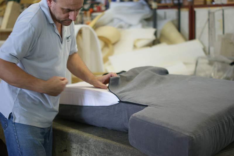Morris maßgeschneiderte Sofa Verarbeitungsphase