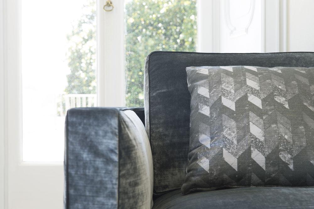 Sofa Samtbezug Danton Armlehne