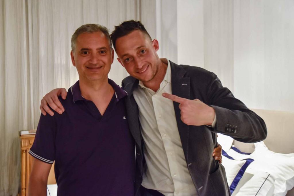 Paolo Ferrara und Filippo Berto bei der Präsentation von Fare ist innovativ