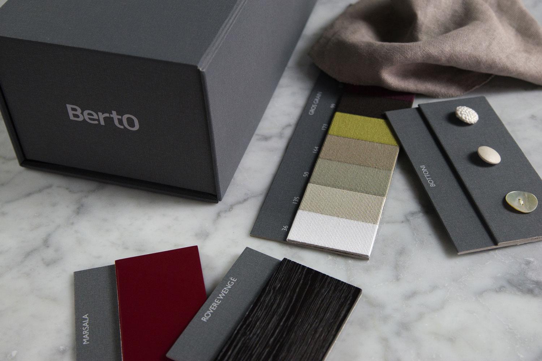 Campionario materiali e finiture BertO per architetti e professionisti