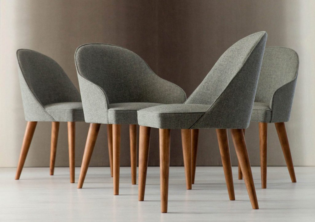 Stuhl mit Beinen aus massivem Holz in Nussbaum oder Judy Wenge