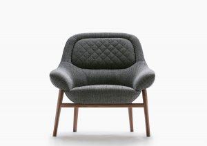Hanna armchair solid wooden frame