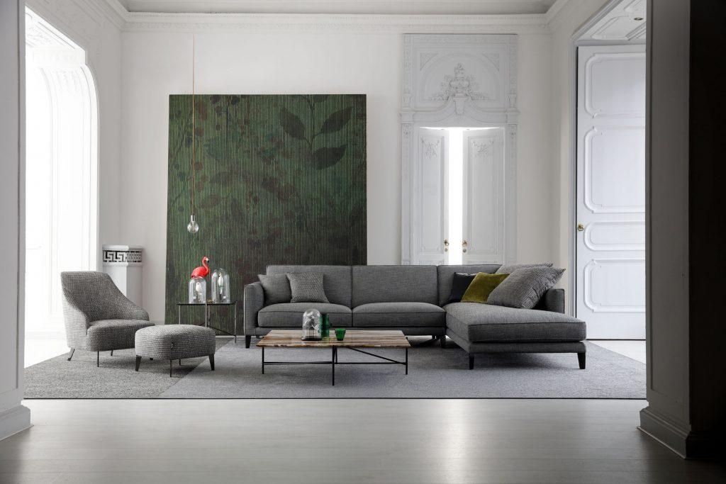Modular-Sofa Time-Break aus stoff nach mass berto salotti