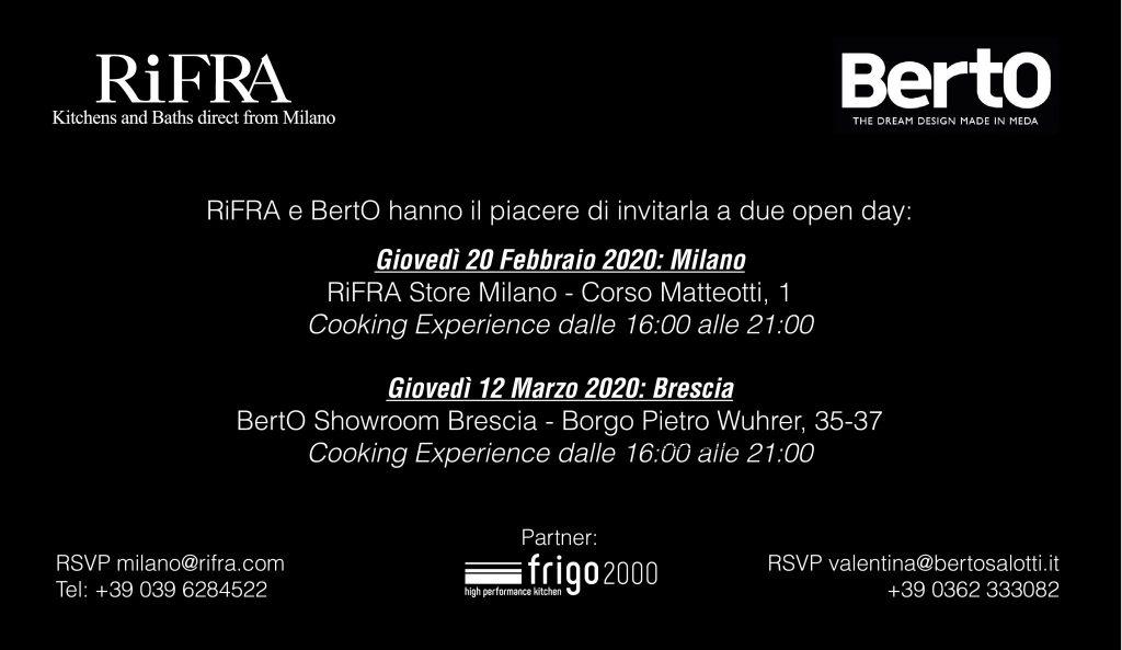 BertO und Rifra EVENT: Das Vergnügen des Gaumens trifft auf das Vergnügen des Komforts