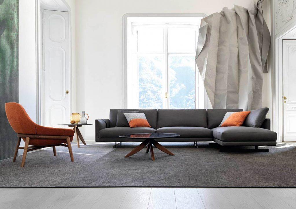 Vollnarbenleder-Sofa Dee Dee Berto the Dream Design Made in Meda