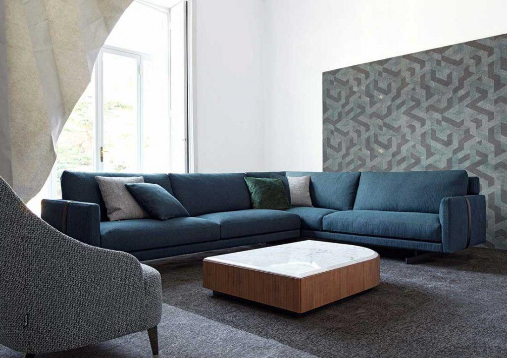 Sofa Dee Dee winkel blau BertO