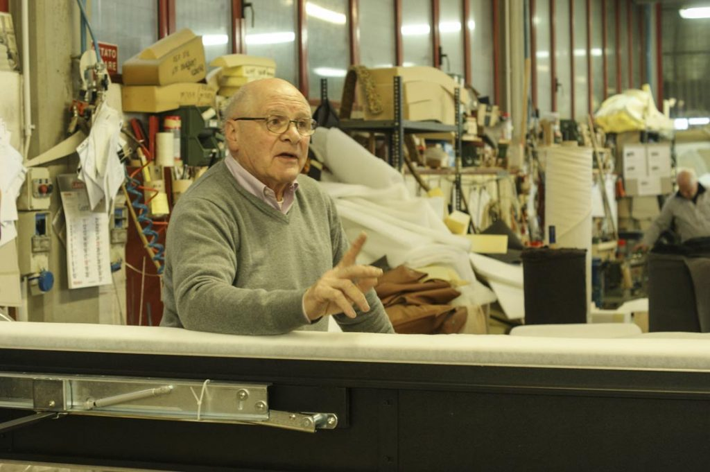 Giorgio Berto in der Werkstatt