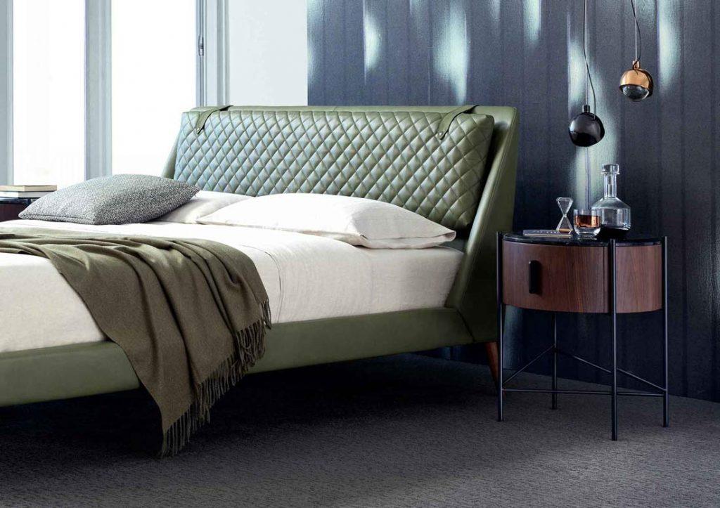 BertO-Schlafzimmer – Chelsea-Lederbett