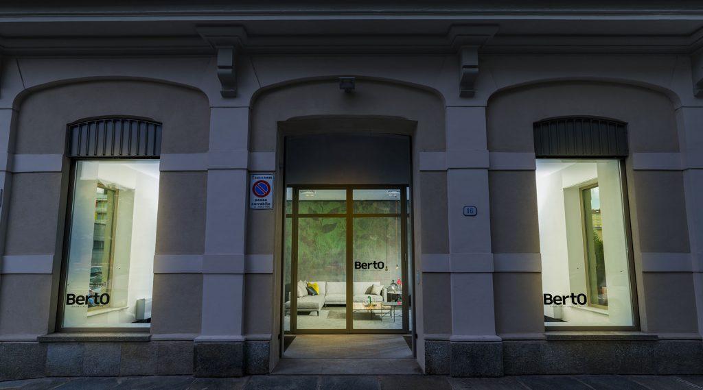 Schaufenster Berto-Laden in Torino